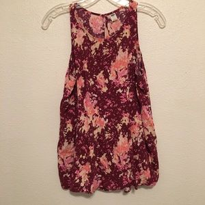 Old Navy | Floral High Neck Tank